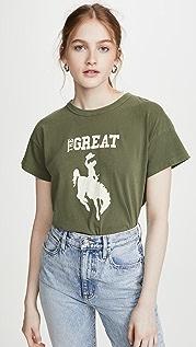 THE GREAT. 宽松牛仔女孩 T 恤