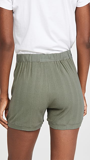 THE GREAT. The Pointelle Sleep Shorts