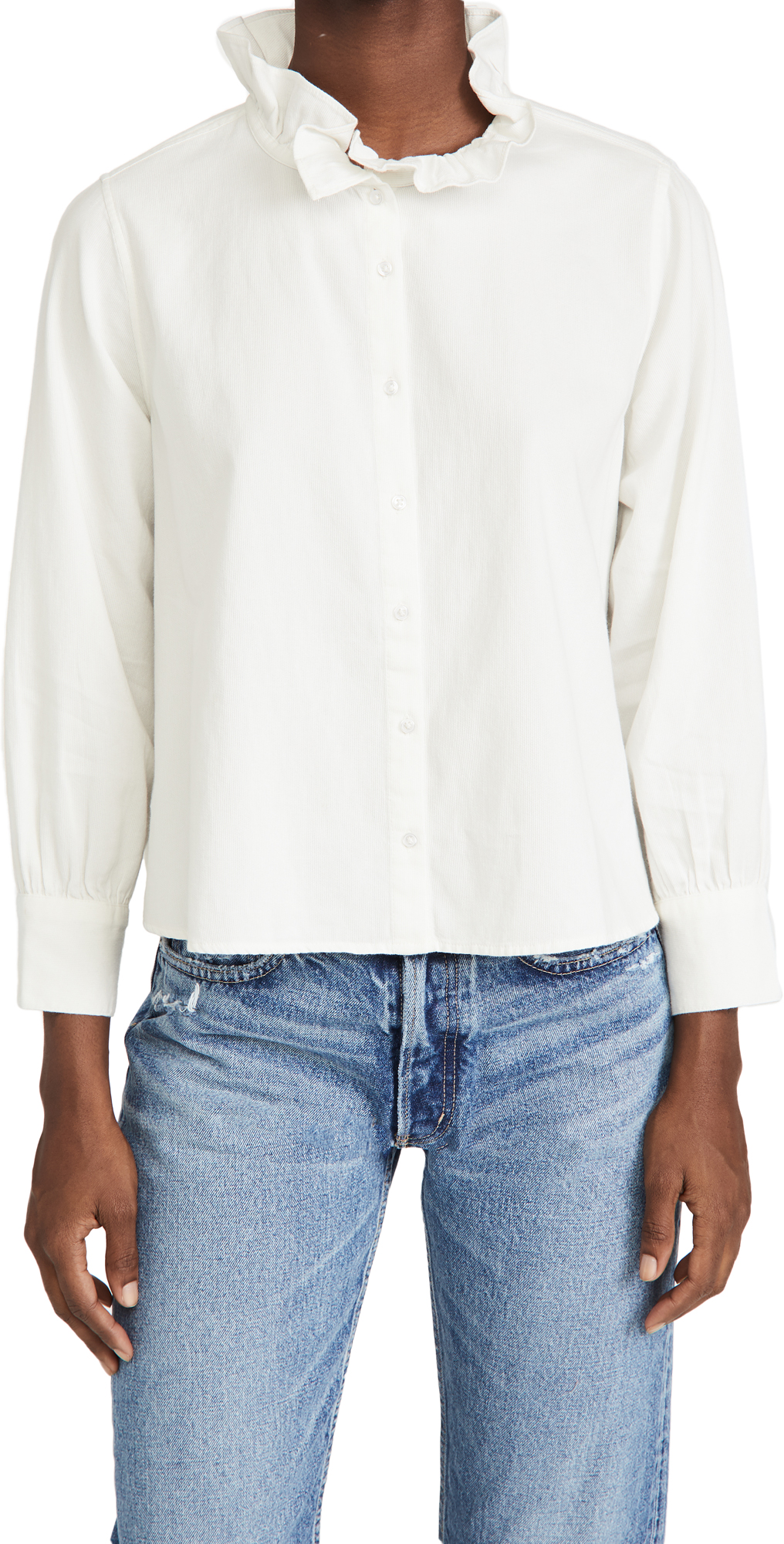 THE GREAT. Venetian Button Up Blouse