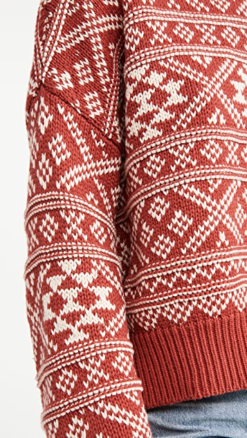 THE GREAT. The Fair Isle Pullover Sweater