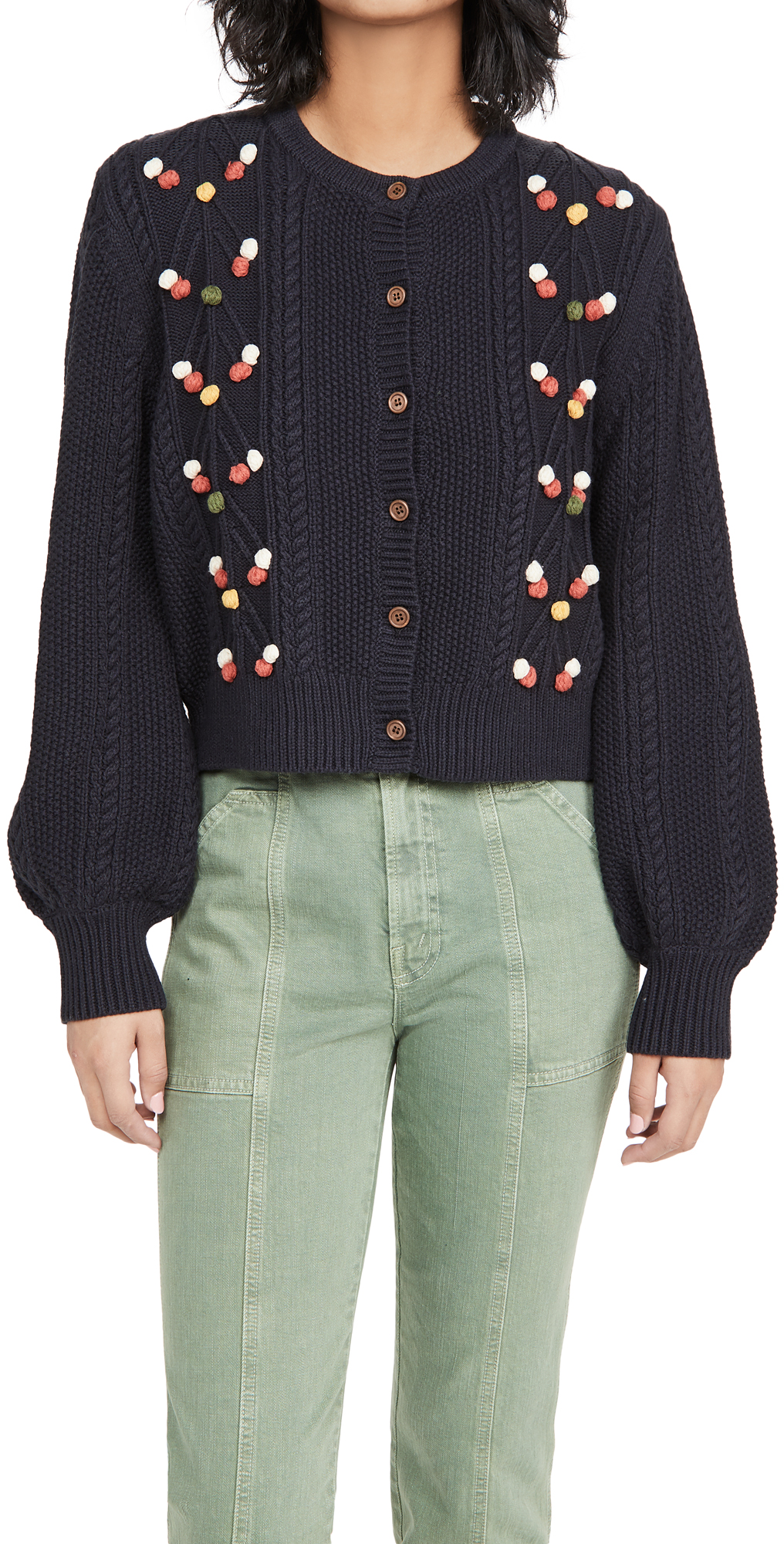 THE GREAT. The Frond Cardigan