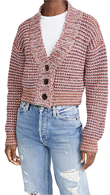 THE GREAT. The Cropped Montana Cardigan.
