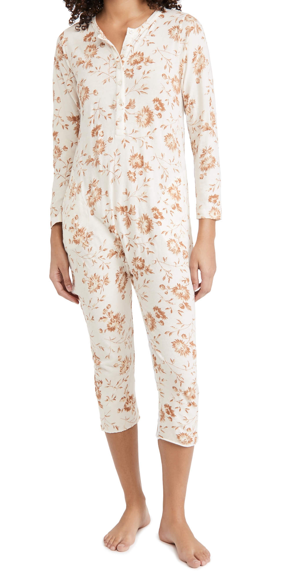 THE GREAT. The Long Sleeve Sleeper Jumpsuit