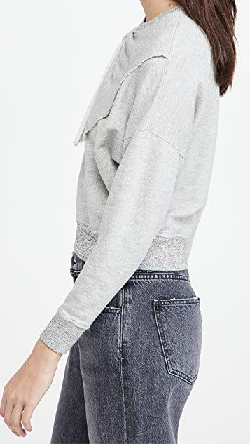 THE GREAT. The Bow Sweatshirt