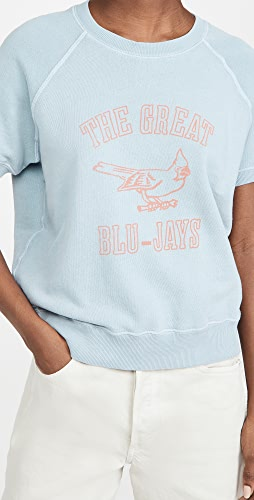 THE GREAT. - The Short Sleeve College Sweatshirt