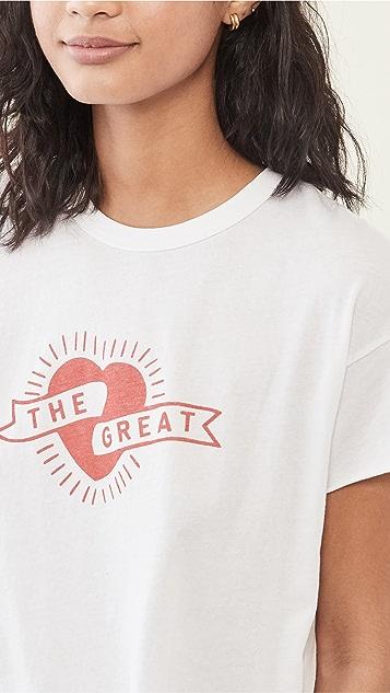 THE GREAT. Crop Tee