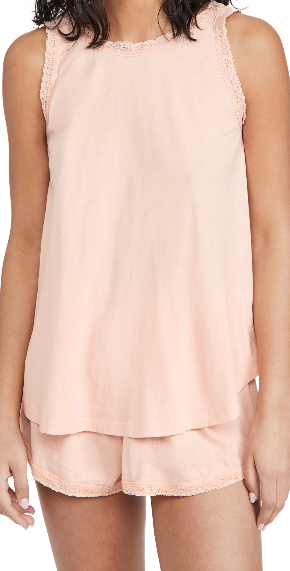 THE GREAT. The Lace Slouch Sleep Tank