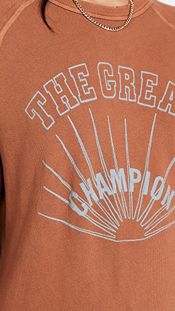 THE GREAT. The College Sweatshirt with Champion Graphic