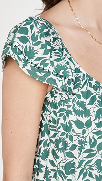 THE GREAT. The Whip Stitched Plumeria Dress