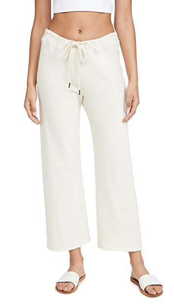 THE GREAT. The Wide Leg Cropped Sweatpants