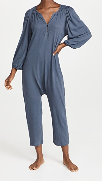 THE GREAT. The Romantic Sleeve Romper