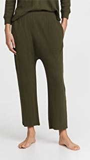 THE GREAT. The Pointelle Lounge Crop Pants