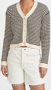 THE GREAT. The Mini Striped Cardigan