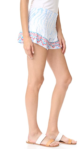 TIARE HAWAII Embroidered Shorts