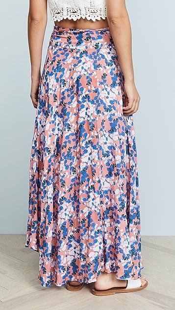 TIARE HAWAII Azure Wrap Skirt