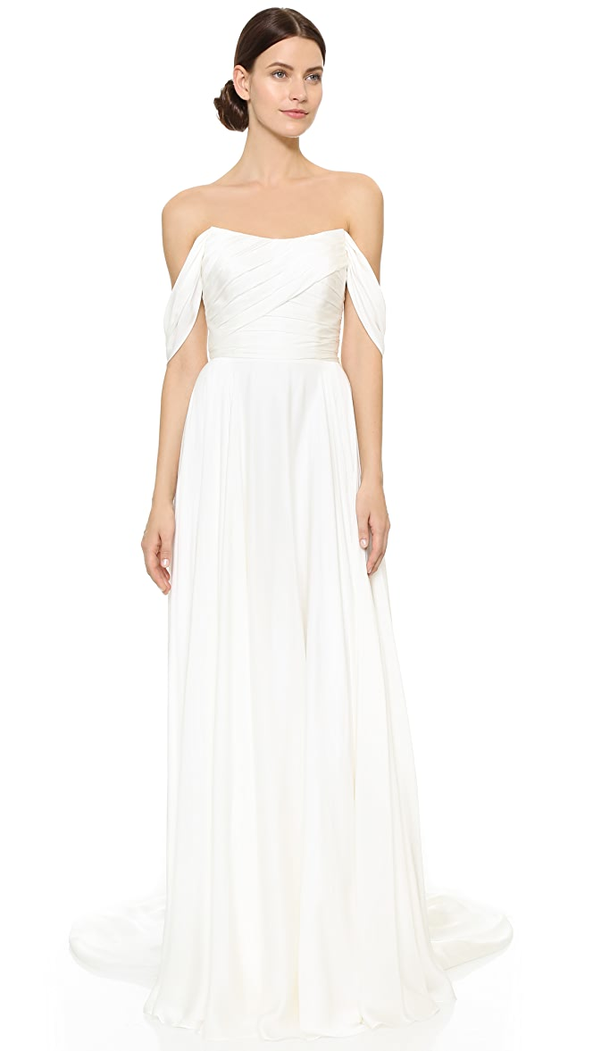 d107809542f Theia Delphine Off Shoulder Gown | SHOPBOP