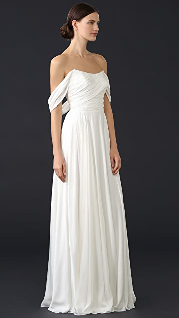 Theia Delphine Off Shoulder Gown