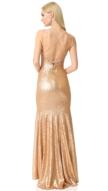 Theia Jessica Sleeveless Mermaid Gown