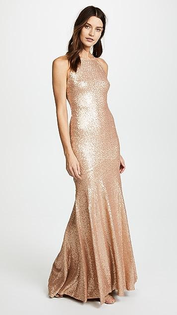 Theia Jessica Sleeveless Mermaid Gown