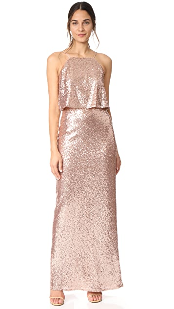 Theia Azelea Gown - Rose Gold