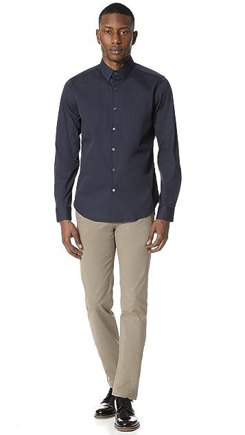 Theory Sylvain Long Sleeve Button Down Shirt
