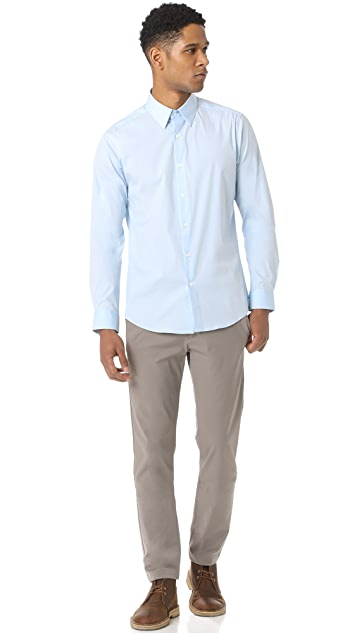 Theory Sylvain Solid Dress Shirt