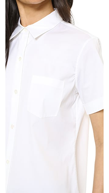 Theory Luxe Uniform Button Down Blouse