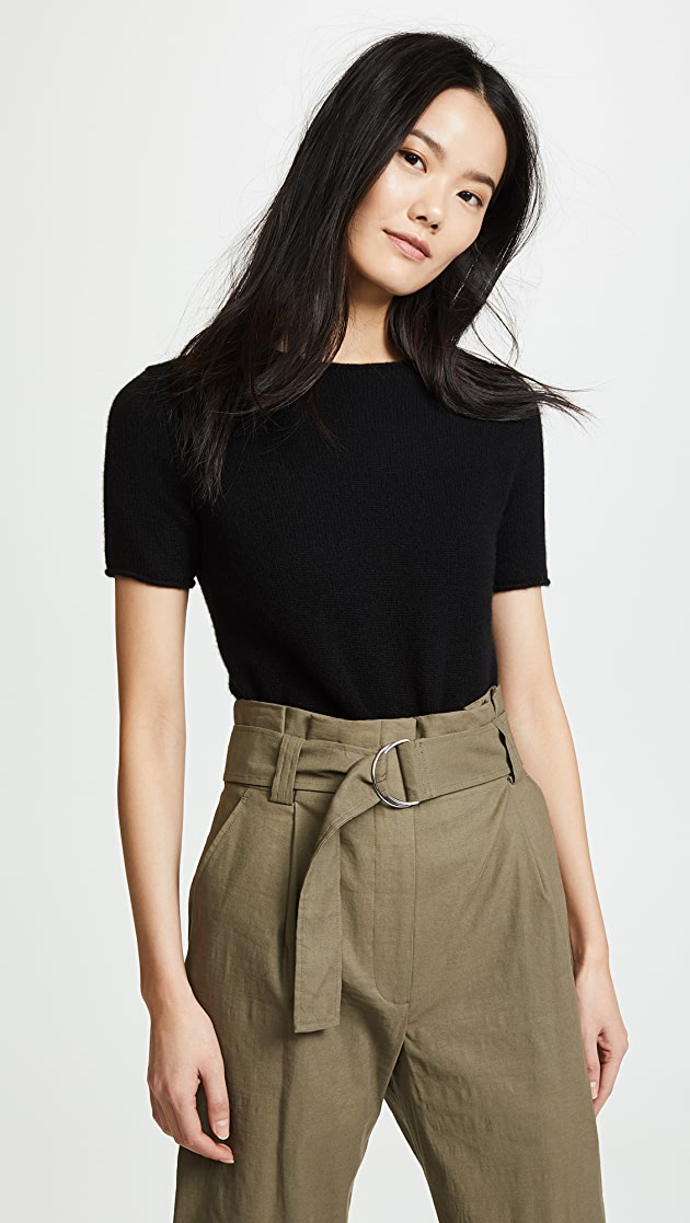 Theory Cashmere Tolleree Short Sleeve Sweater | SHOPBOP