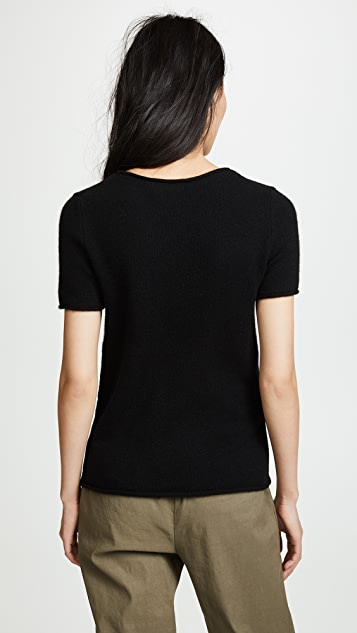 Theory Cashmere Tolleree Short Sleeve Sweater
