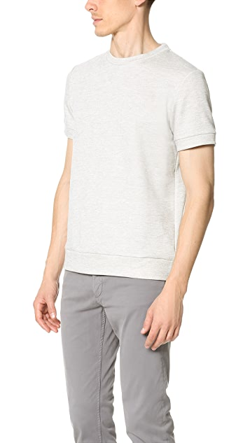 Theory Danen Axis Terry Short Sleeve Sweatshirt