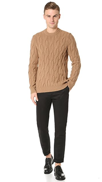 Theory Rockson Camellos Cable Sweater