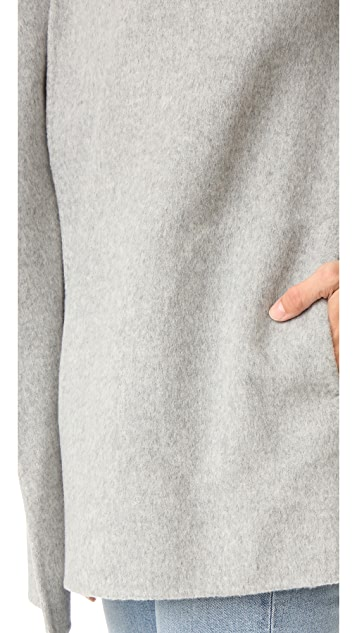 Theory Clairene Double Faced Wool Coat