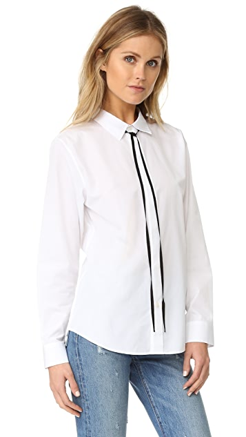 Theory Anesha Shirt with Black Tie