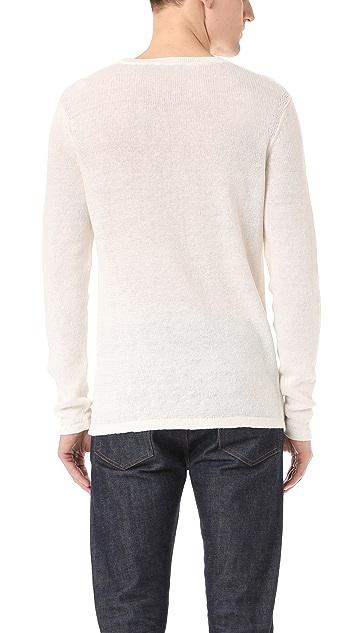 Theory Andrejs New Irish Linen Crew Sweater