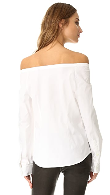 Theory Auriana Off the Shoulder Top