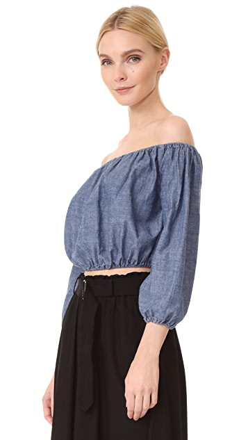 Theory Waleska Crop Top