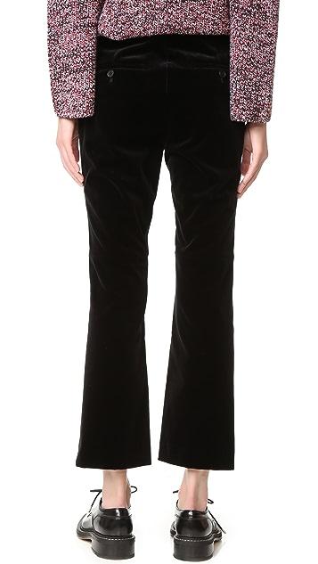 Theory Erstina Stretch Velvet Pants