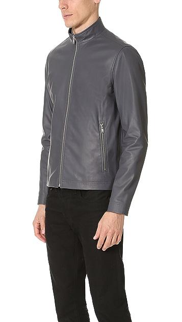 Theory Morvek Leather Jacket