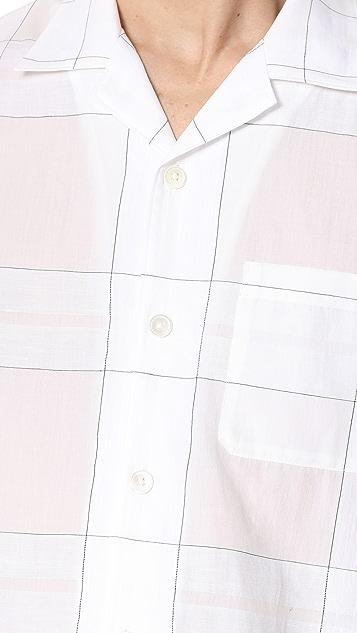 Theory Havana Short Sleeve Button Down Shirt