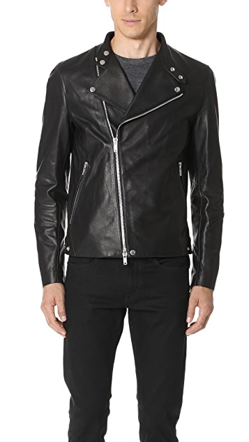 Theory Banded Leather Jacket