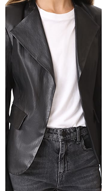 Theory Peplum Leather Jacket