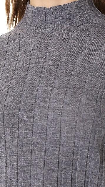 Theory Wide Rib Mock Sweater