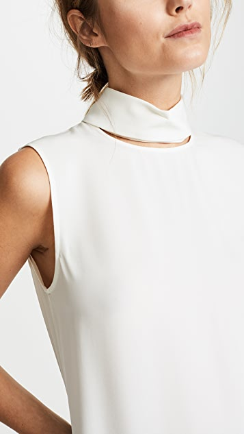 Theory Slit Collar Top