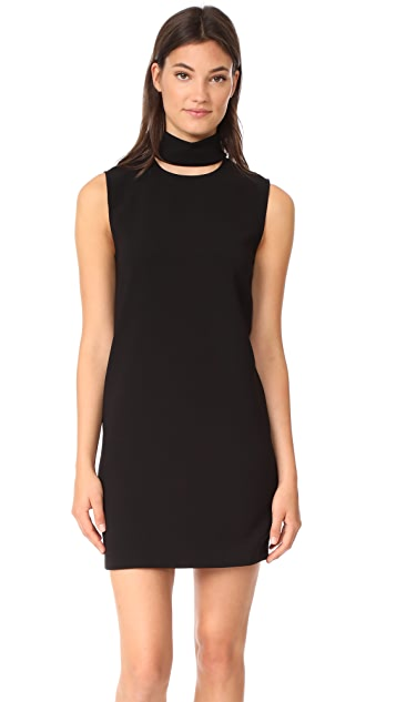 Theory Slit Collar Dress
