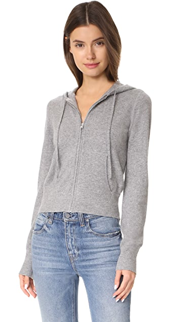 Theory Perfect Zip Up Cashmere Hoodie