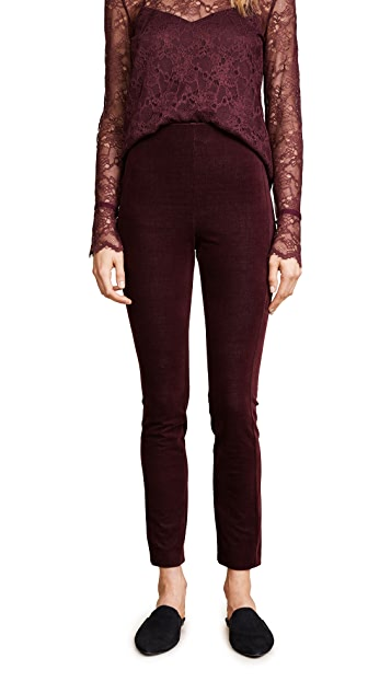 Theory Navaline Velvet Leggings