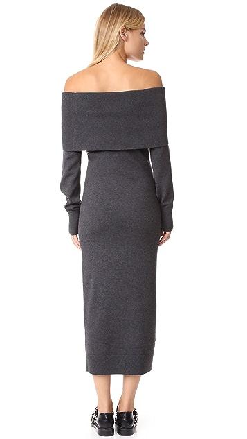 Theory Fold Over Sheath Dress