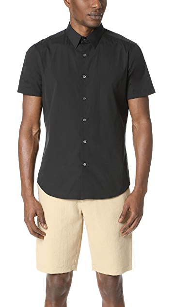 Theory Sylvain Short Sleeve Button Down Shirt