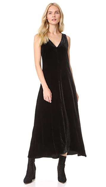 Theory Luxe Velvet Slip Dress