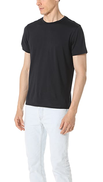 Theory Claey Plaito Crew Neck Tee